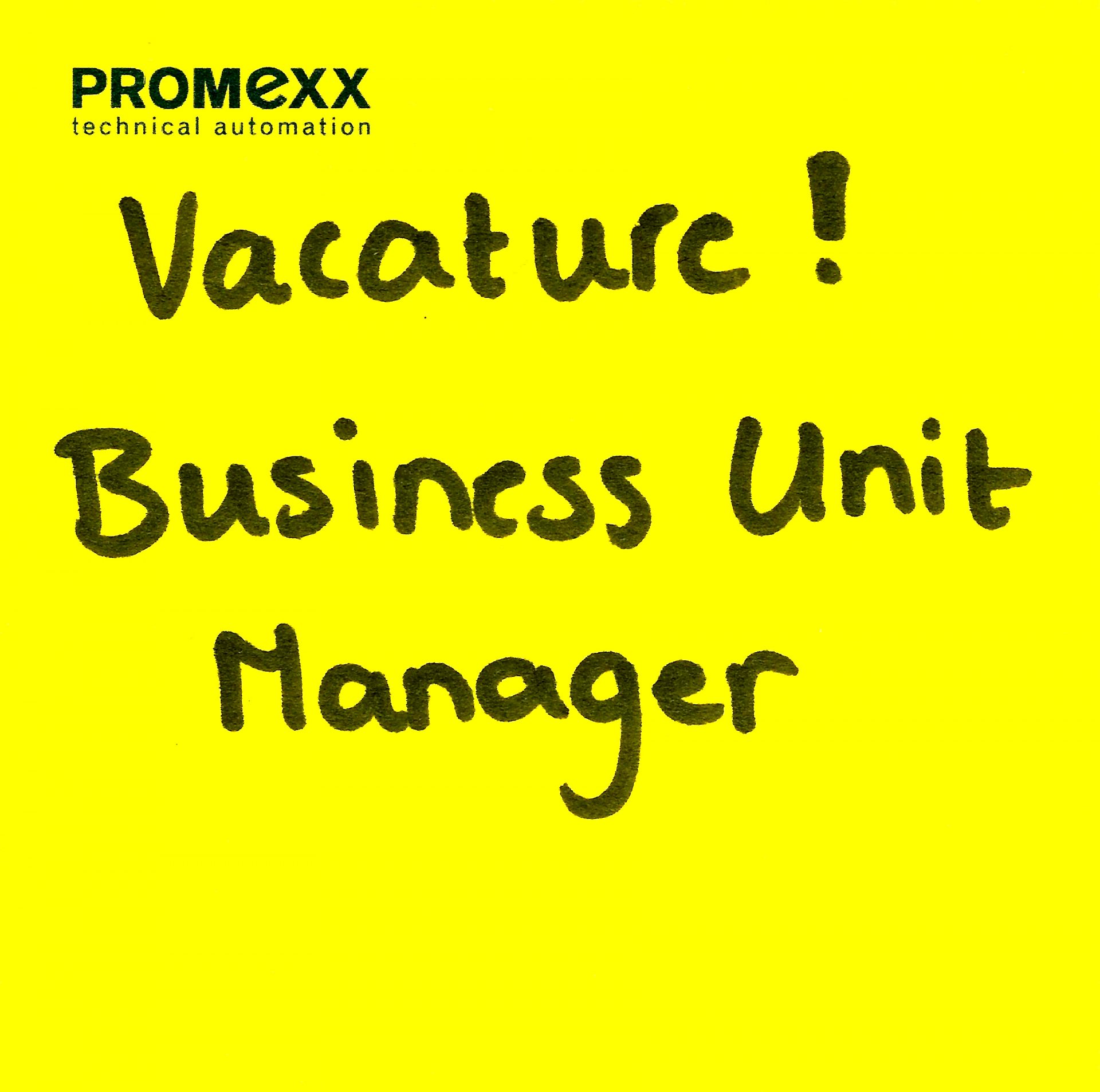 Vacature Business Unit Manager